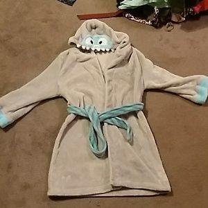 Kids hooded robe